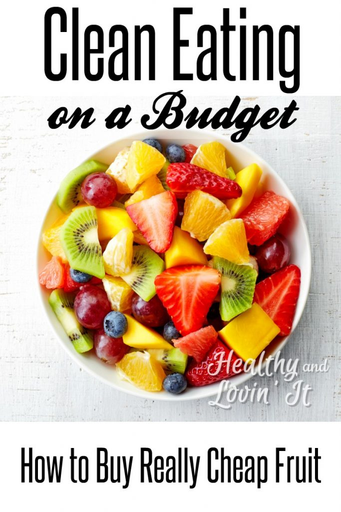 Save money on fruit with these easy ideas! This is perfect for those who want to eat clean on a budget-there is even a printable of the cheapest seasonal fruits! #HealthyandLovinIt #cleaneating #budget #freeprintable #healthyfood