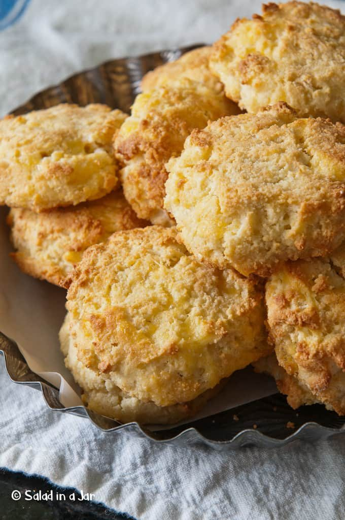 Cheese Biscuits with Yogurt and Almond Flour