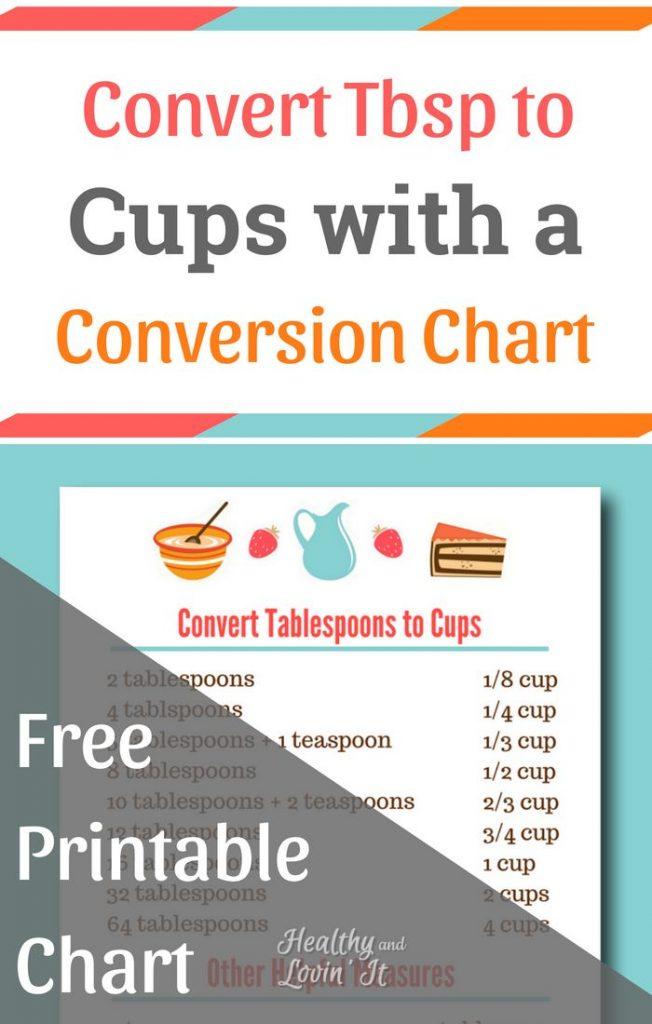 Convert Tbsp To Cups Free Printable Chart And How To Measure The