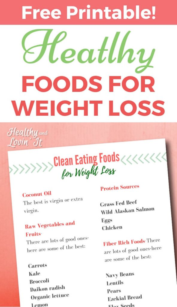 Printable Clean Eating Grocery List for Weight Loss