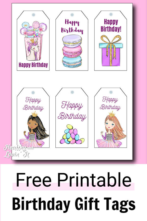 graphic relating to Free Printable Birthday Gift Tags called Cost-free Printable Birthday Present Tags - 12 Lovely Distinctions!