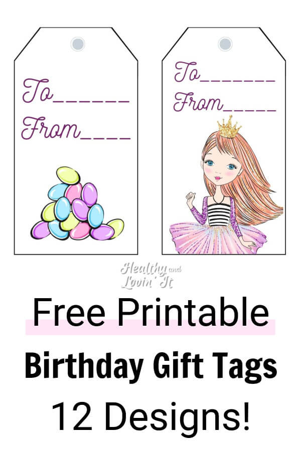 picture relating to Cute Gift Tags Printable titled No cost Printable Birthday Reward Tags - 12 Lovely Discrepancies!