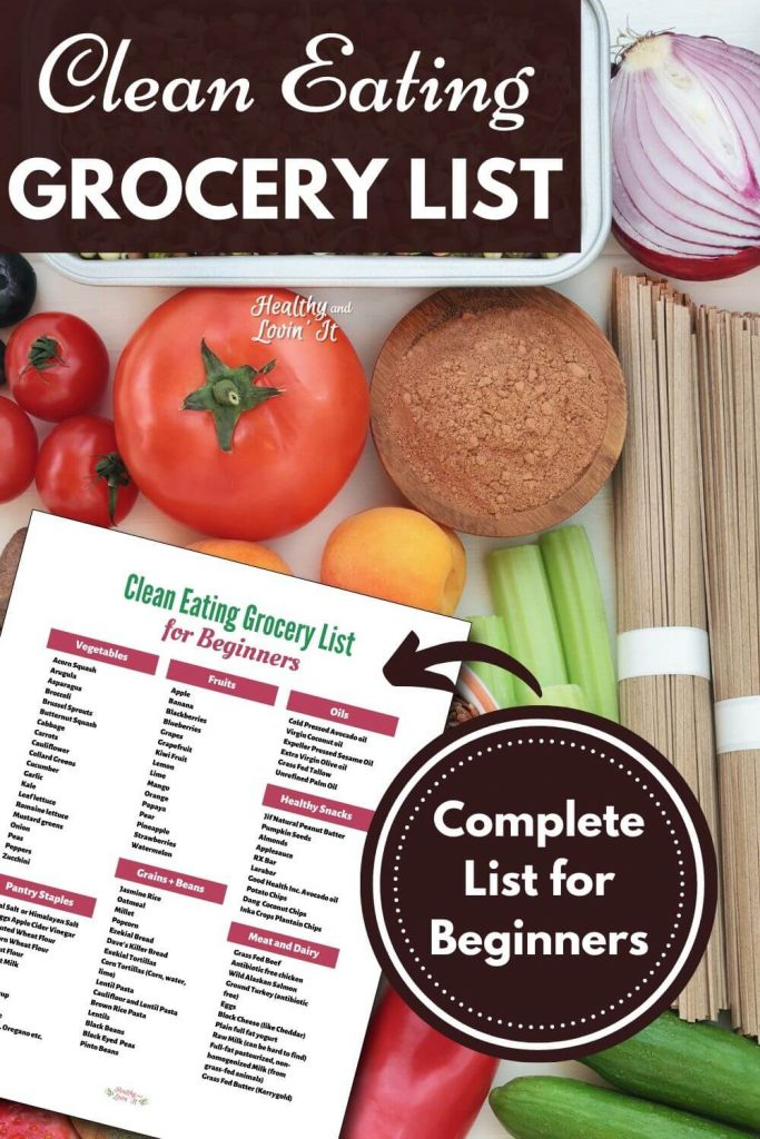 printable clean eating grocery list for mom