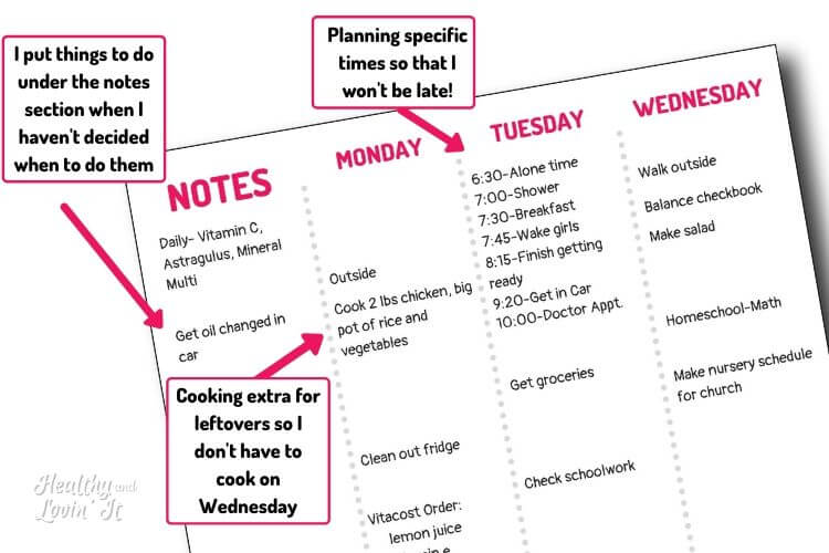 tips for planning your day