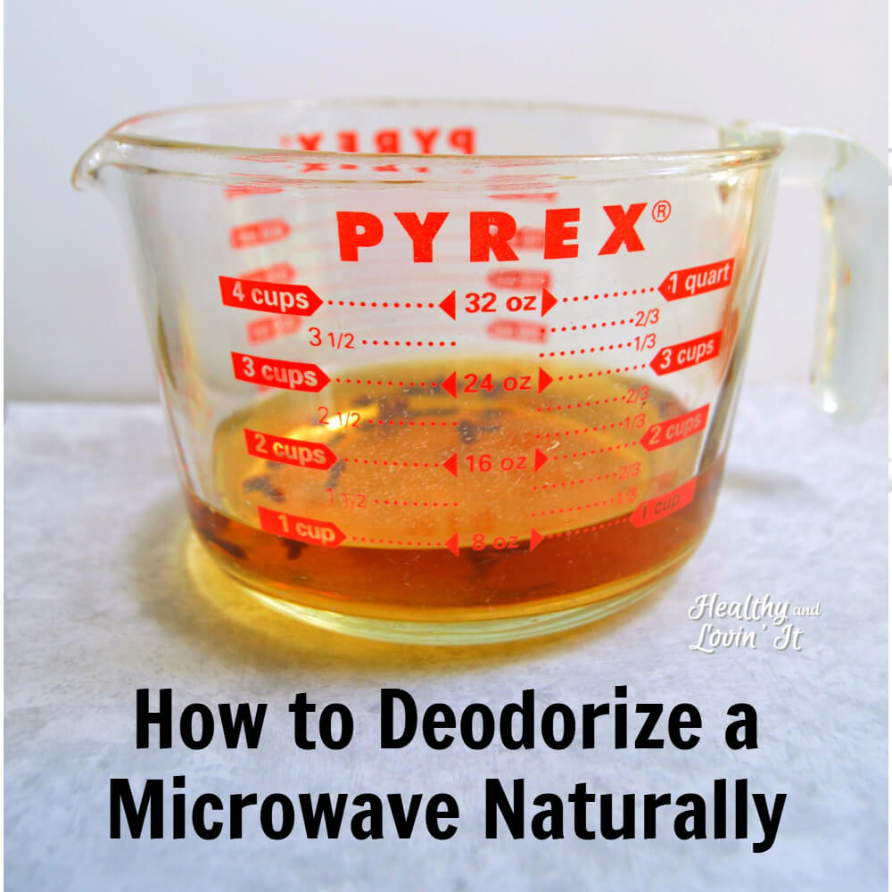 how to clean microwave smell