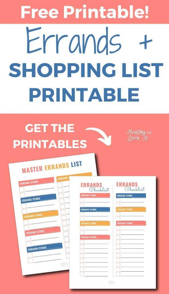 errands checklist pdf