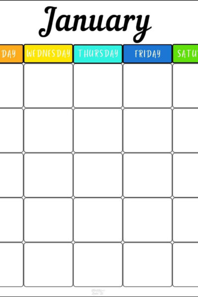 monthly schedule template