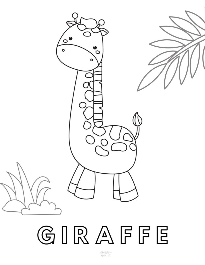 Cute Giraffe Coloring Pages - Free Printables! - Healthy ...
