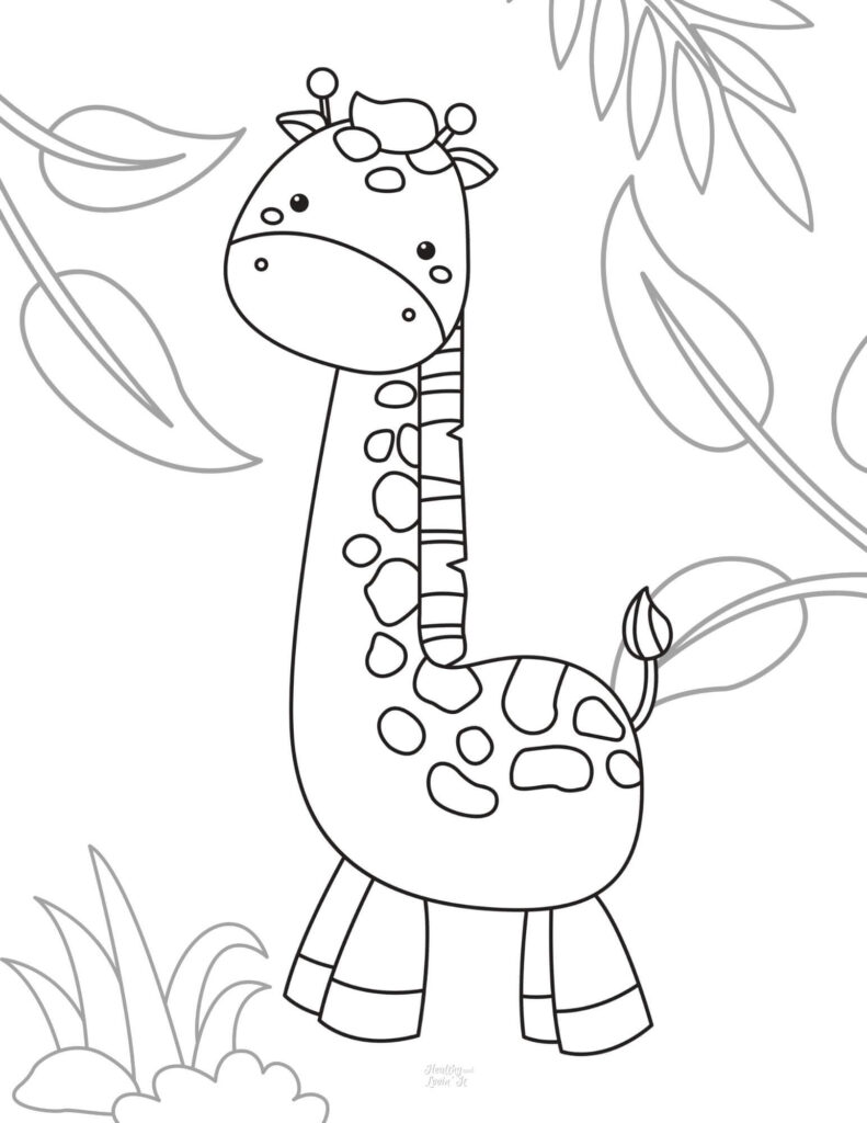 cute giraffe coloring pages
