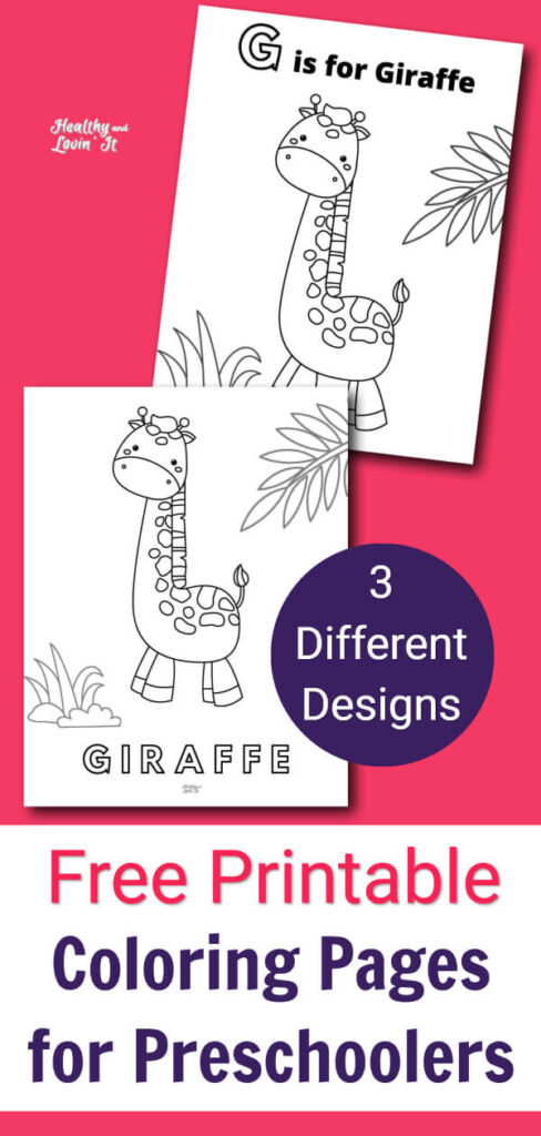 Cute Giraffe Coloring Pages - Free Printables! - Healthy And Lovin' It