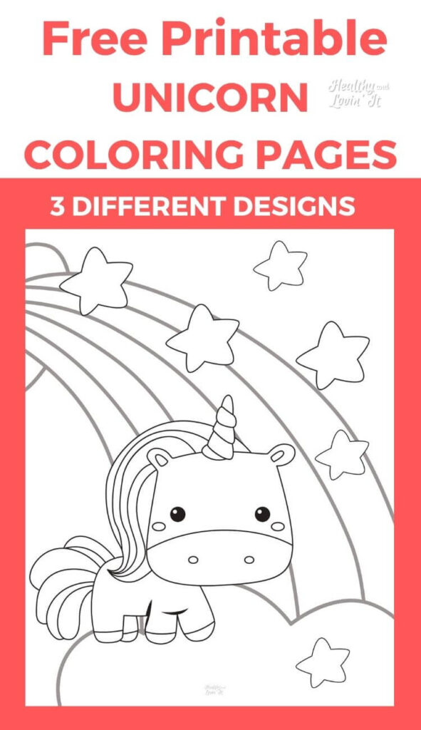unicorn pictures to color