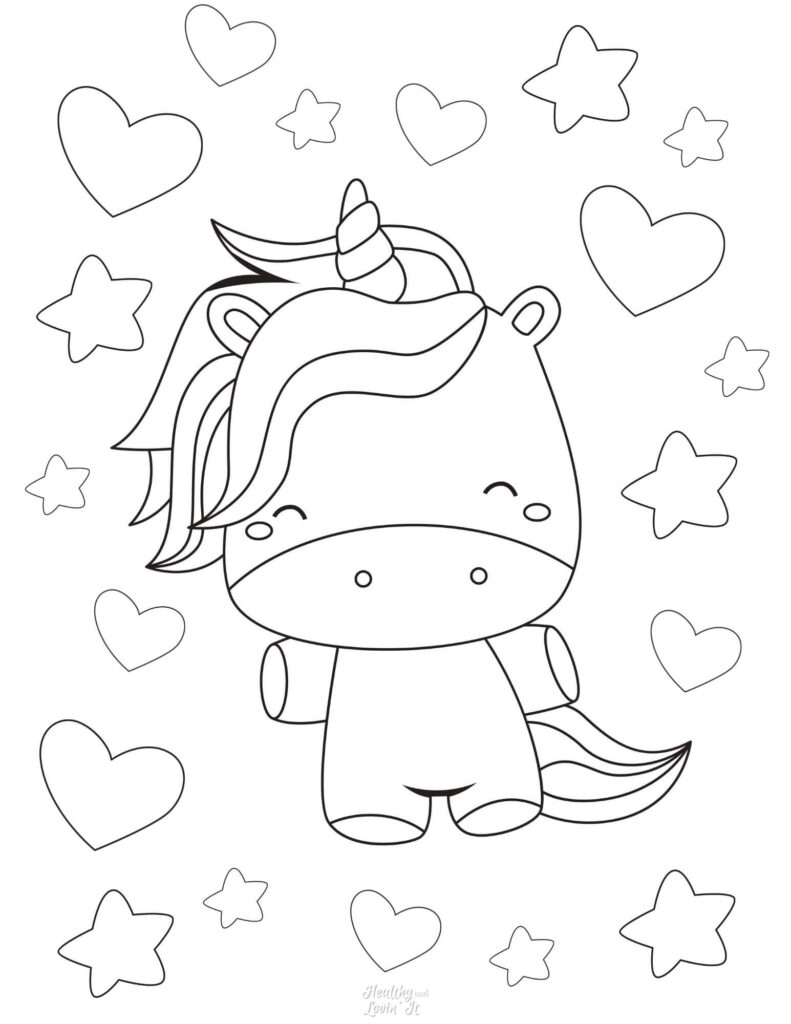 baby unicorn coloring pages