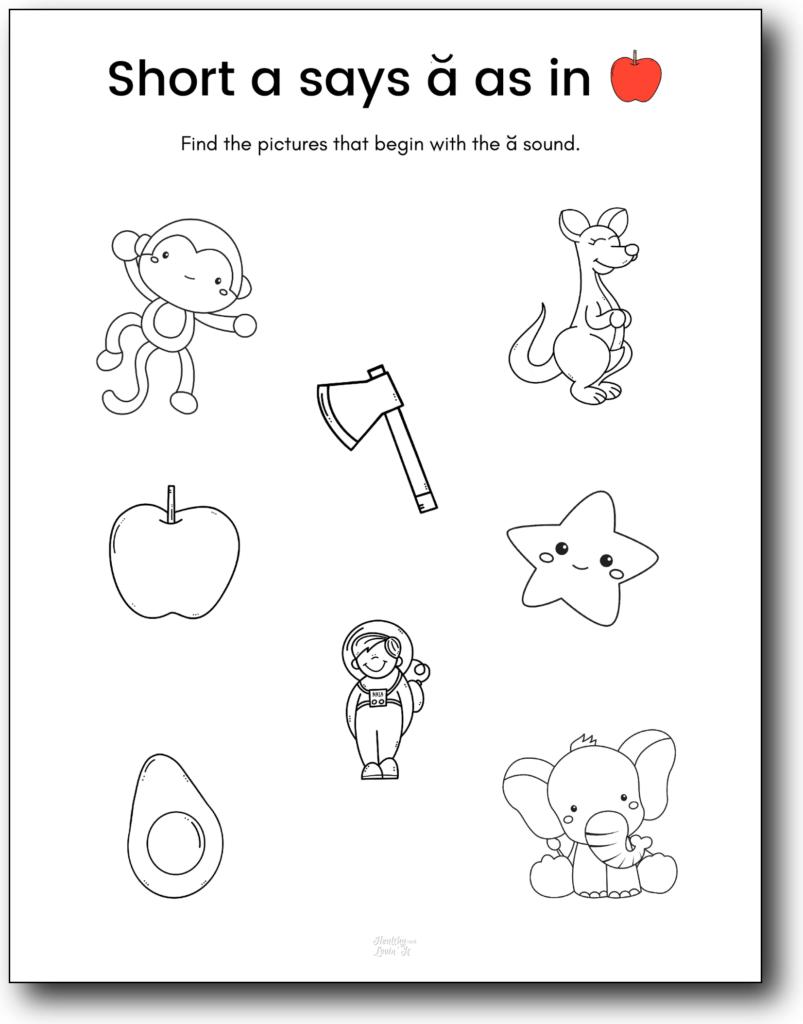 short a sound worksheets