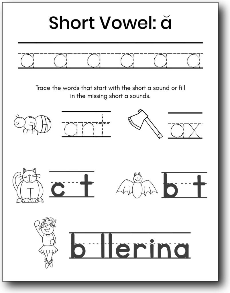 lowercase letter a worksheets
