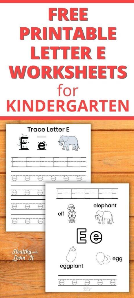 tracing letter e pdf