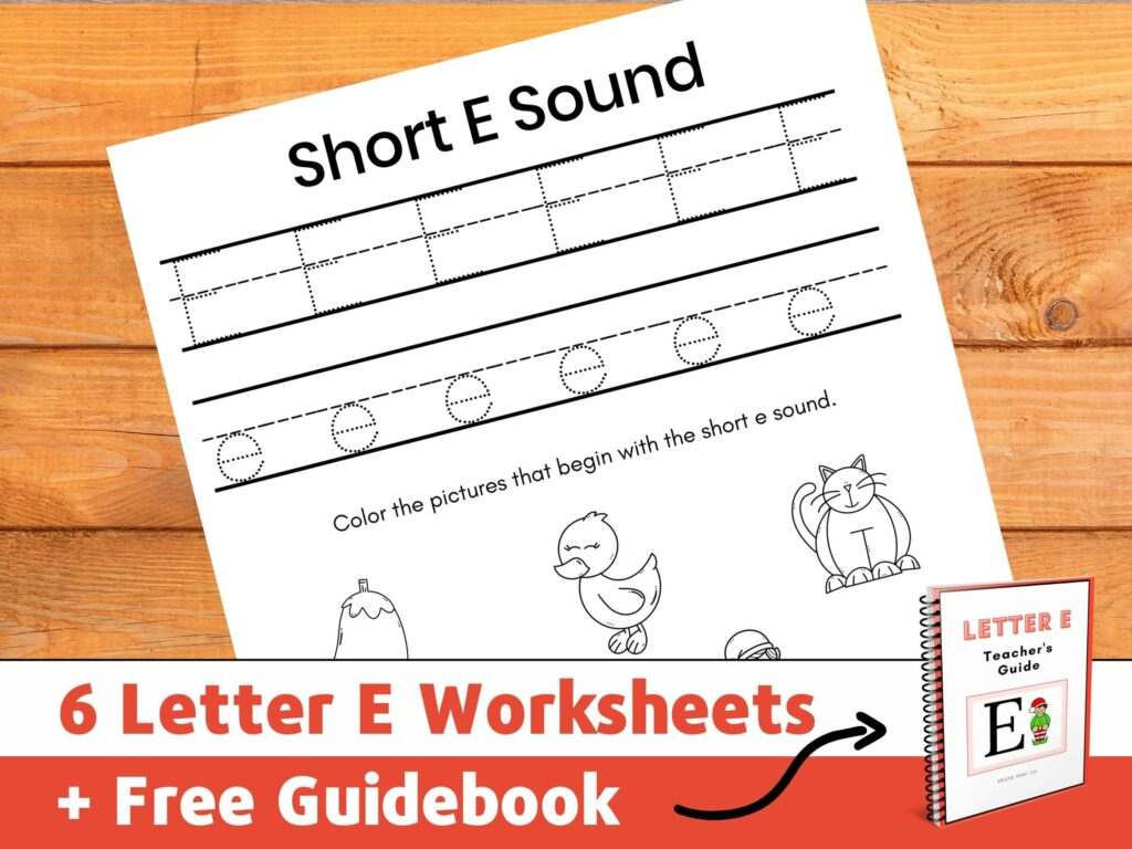 letter e worksheets for kindergarten