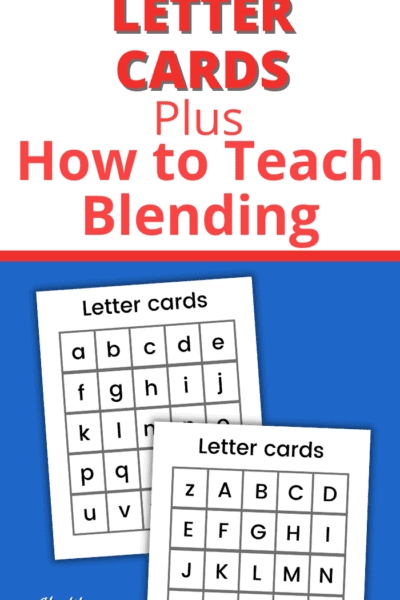 printable letter cards for making words