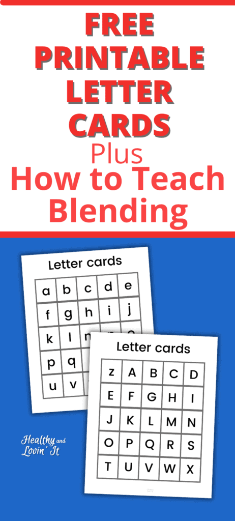 free printable letter cards for making words