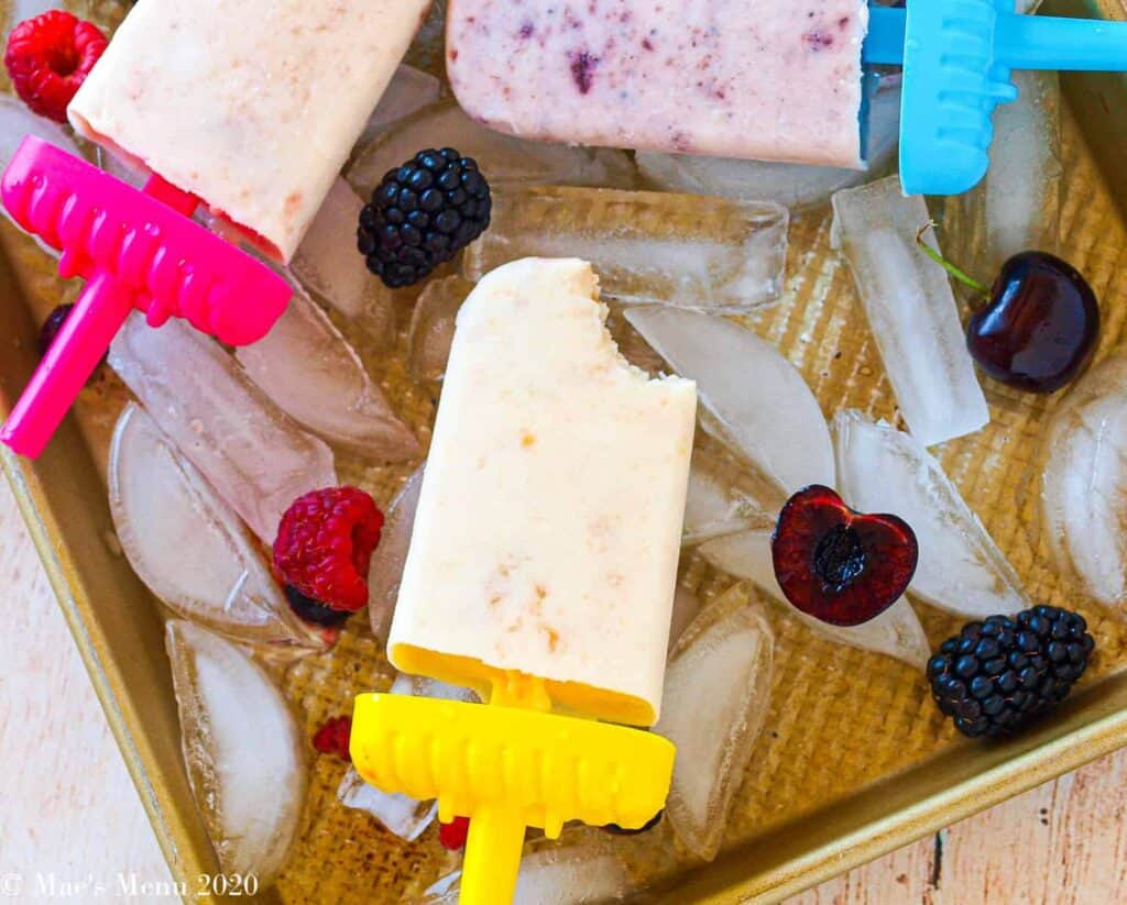 naturally sweetened popsicles