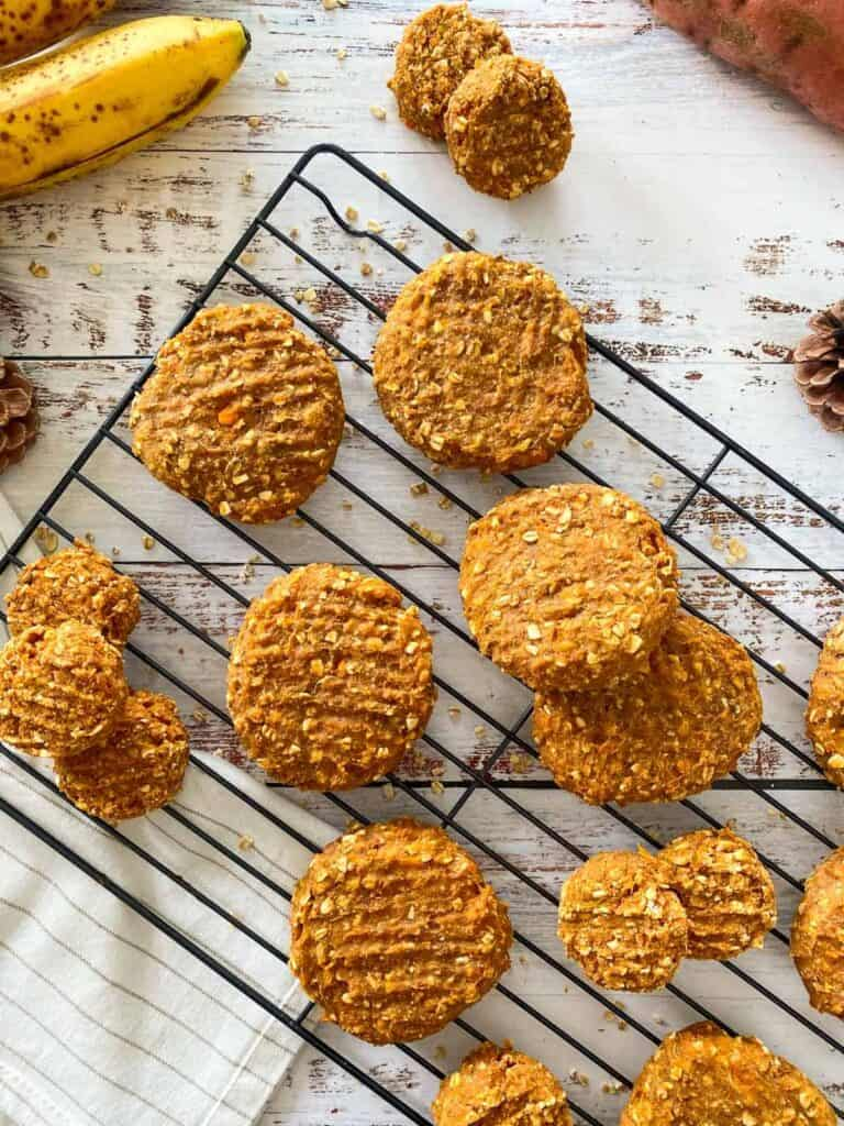 naturally sweetened cookies made with sweet potato
