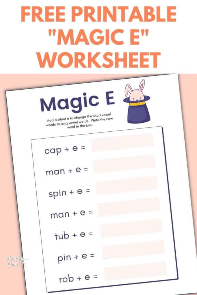 magic e worksheet free pdf