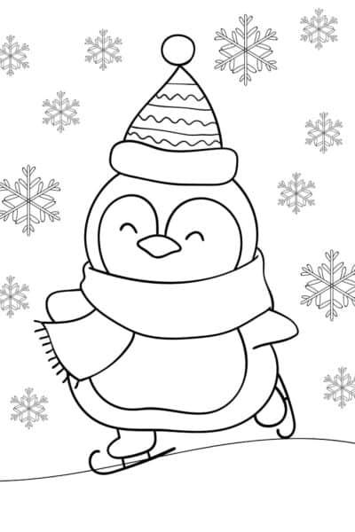 free penguin coloring sheet pdf