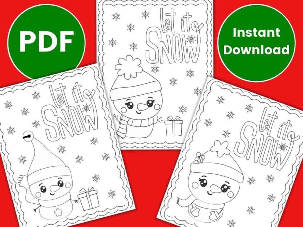cute snowman coloring pages pdf