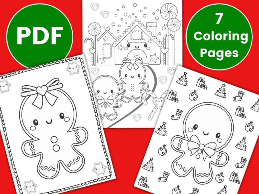 gingerbread girl gingerbread man coloring sheets