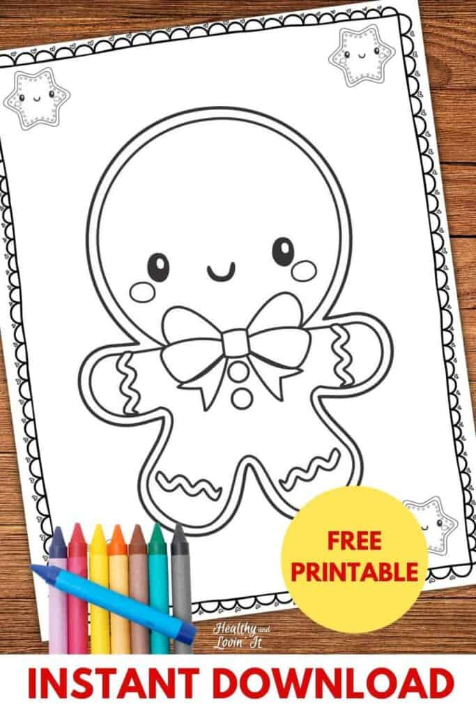 free printable gingerbread man coloring page