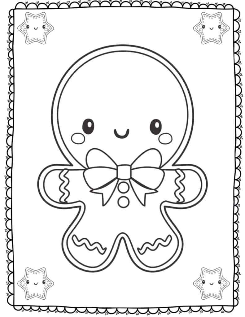 gingerbread man pictures to print