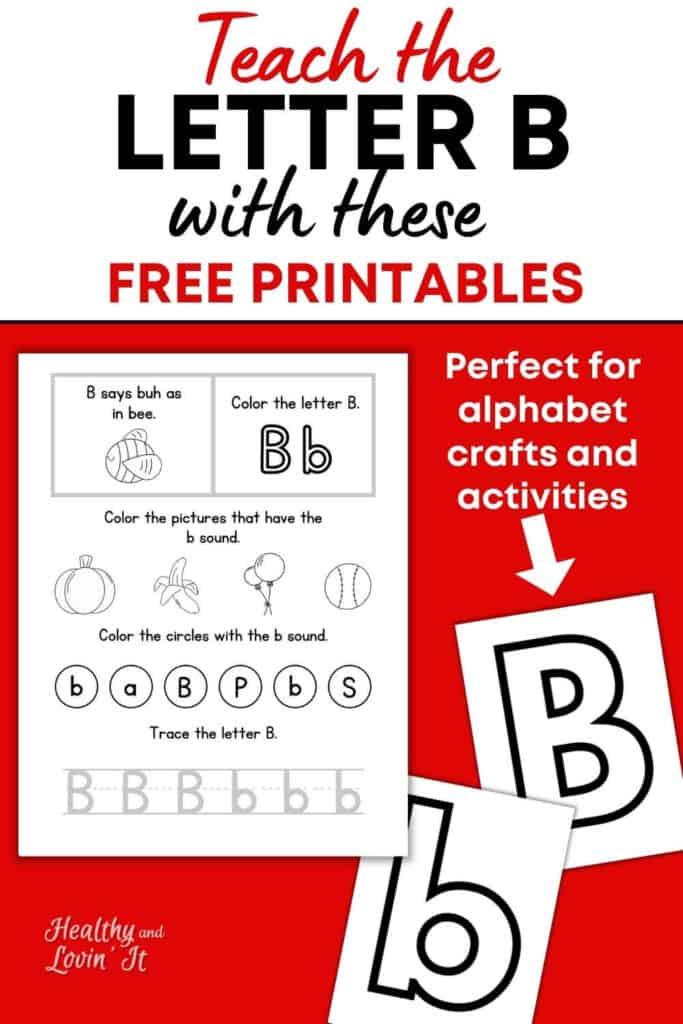 letter b printable worksheets