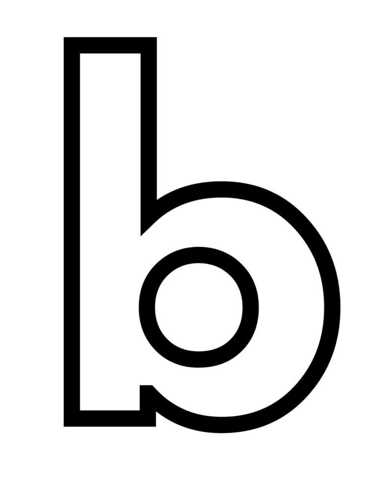 letter b printable lower case