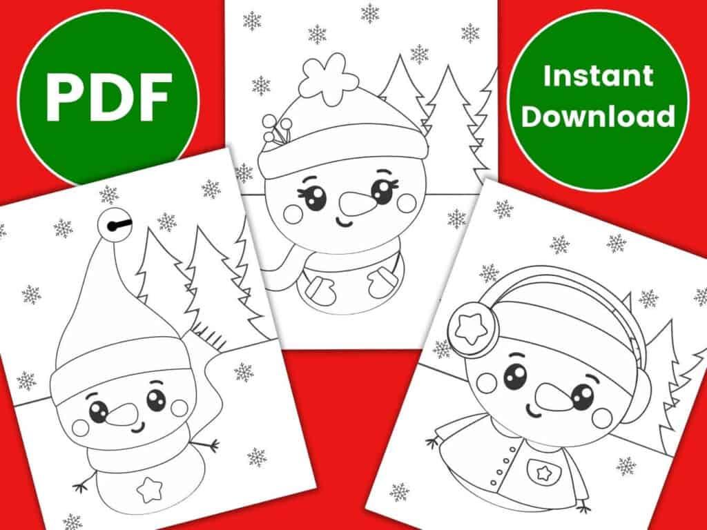 snowman coloring pages preschool kindergarten