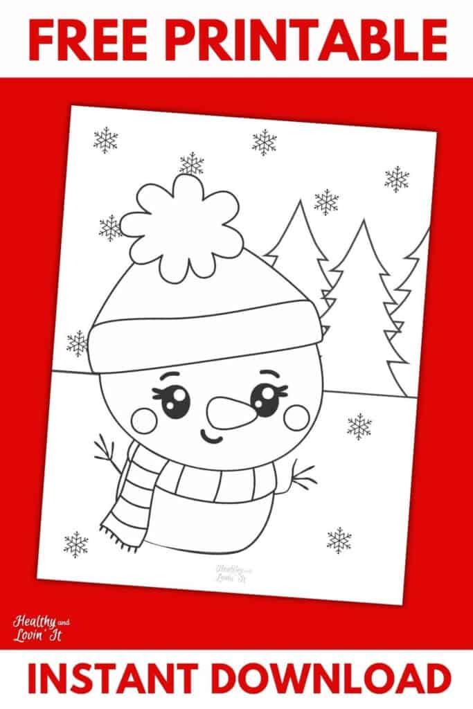 snowman coloring page pdf