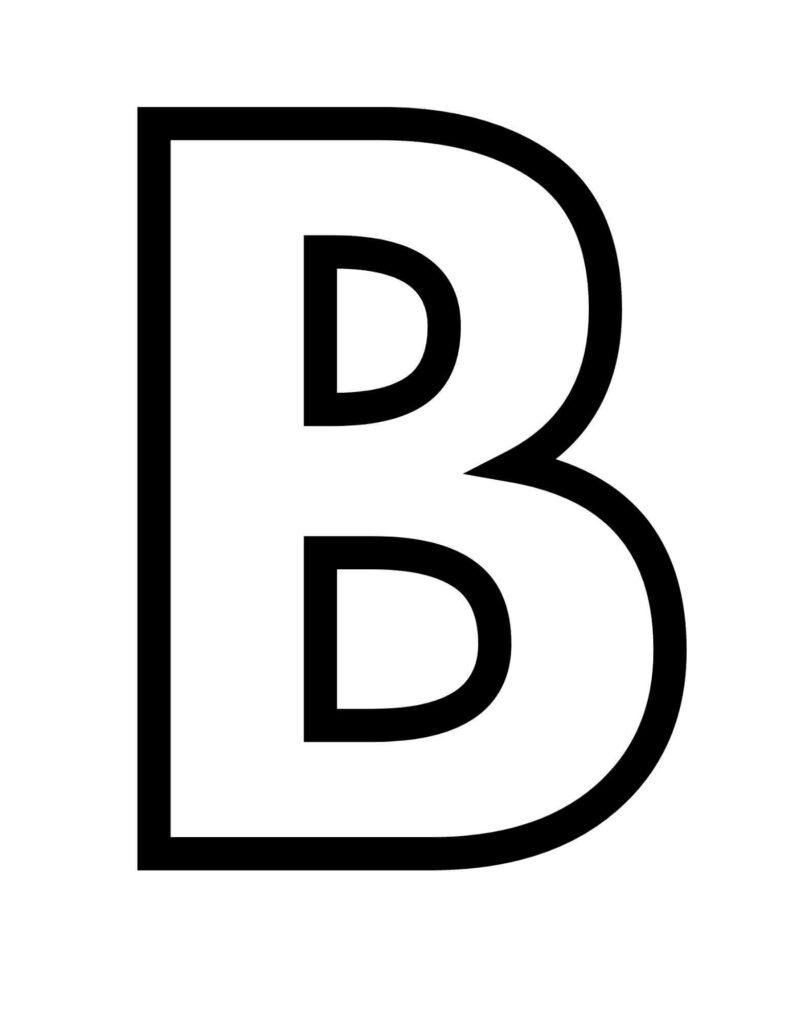 letter b printable