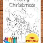 free Christmas unicorn coloring page