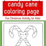 candy cane coloring page preschool