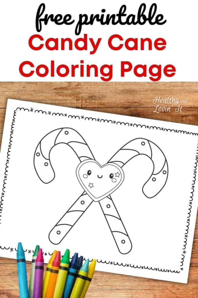 simple candy cane coloring page